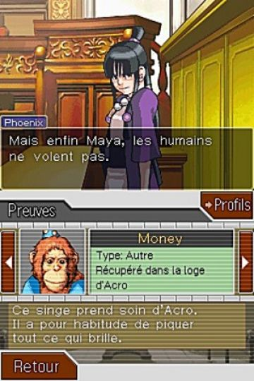 Immagine -2 del gioco Phoenix Wright: Ace Attorney - Justice For All per Nintendo DS