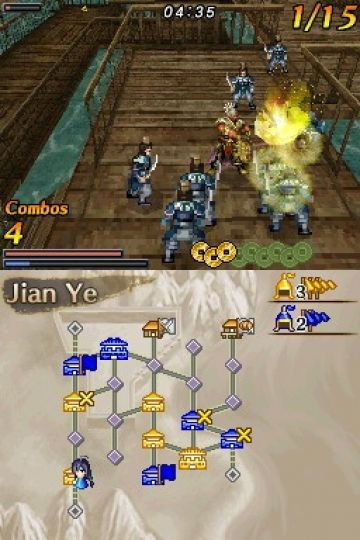 Immagine -1 del gioco Dynasty Warriors DS: Fighter's Battle per Nintendo DS