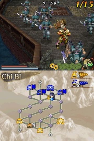 Immagine -5 del gioco Dynasty Warriors DS: Fighter's Battle per Nintendo DS