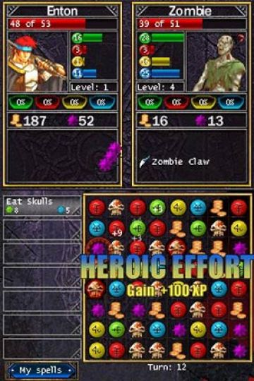 Immagine -2 del gioco Puzzle Quest: Challenge of the Warlords per Nintendo DS