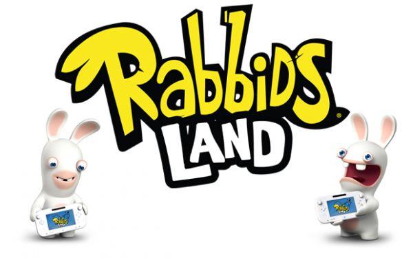 Logo del gioco Rabbids Land per Nintendo Wii U