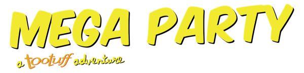 Logo del gioco Mega Party a Tootuff adventure per Nintendo Switch